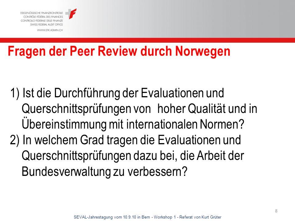 Fragen der Peer Review durch Norwegen