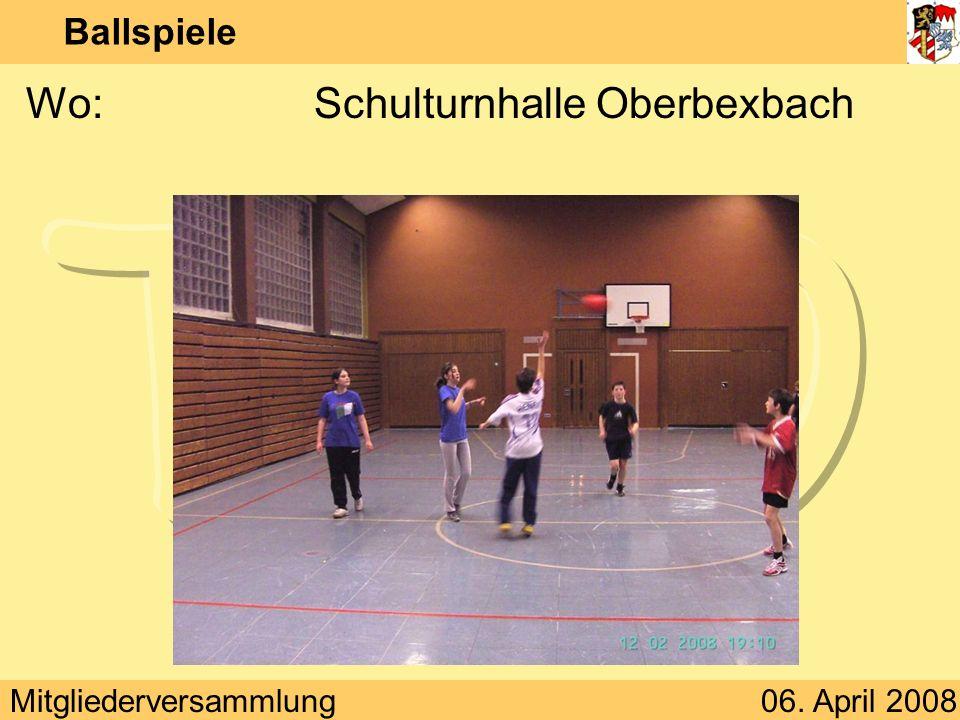 Wo: Schulturnhalle Oberbexbach