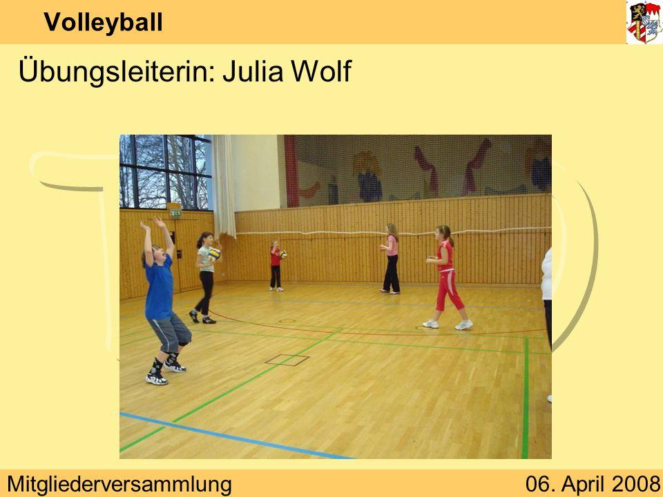 Übungsleiterin: Julia Wolf