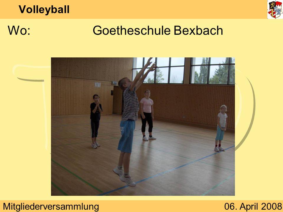 Wo: Goetheschule Bexbach