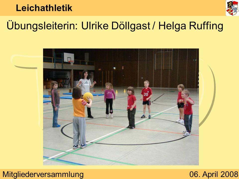 Übungsleiterin: Ulrike Döllgast / Helga Ruffing