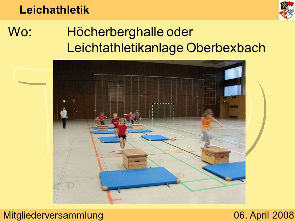 Wo: Höcherberghalle oder Leichtathletikanlage Oberbexbach