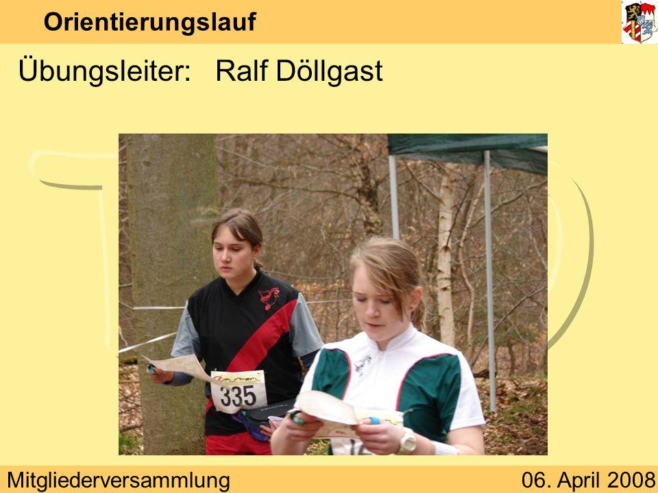 Übungsleiter: Ralf Döllgast