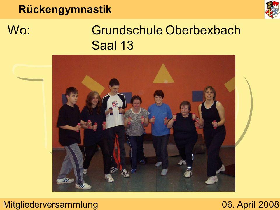 Wo: Grundschule Oberbexbach Saal 13