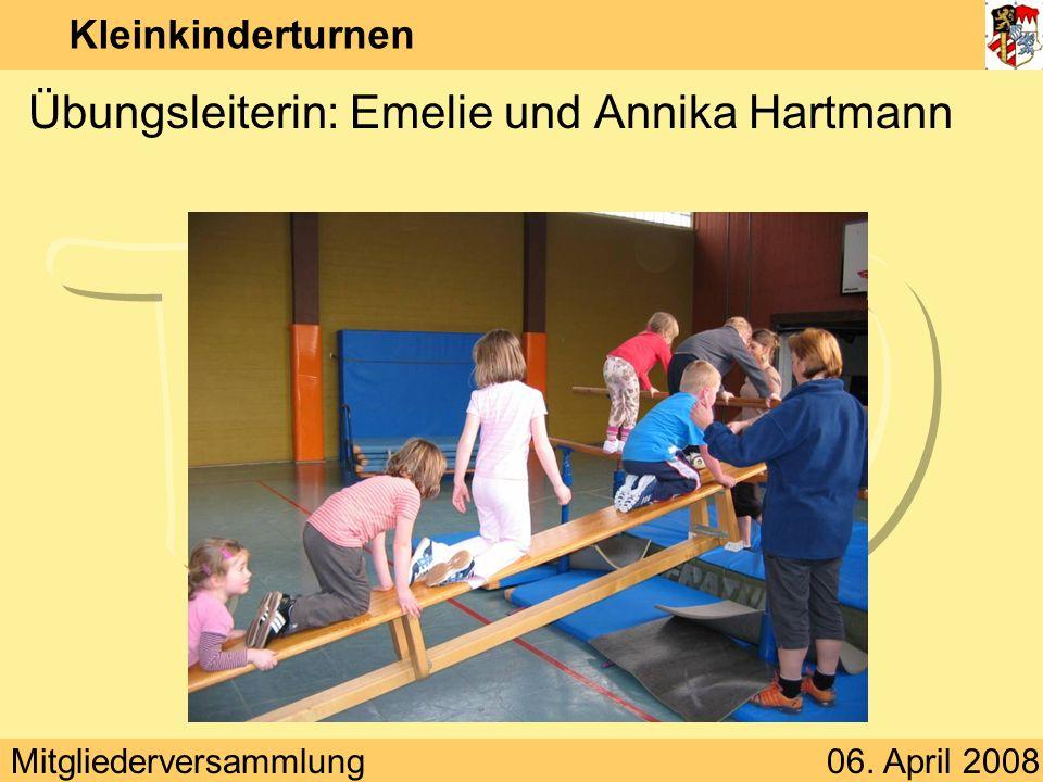 Übungsleiterin: Emelie und Annika Hartmann
