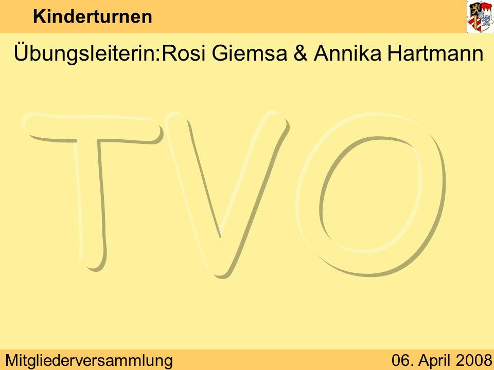 Übungsleiterin: Rosi Giemsa & Annika Hartmann