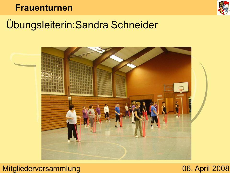 Übungsleiterin: Sandra Schneider