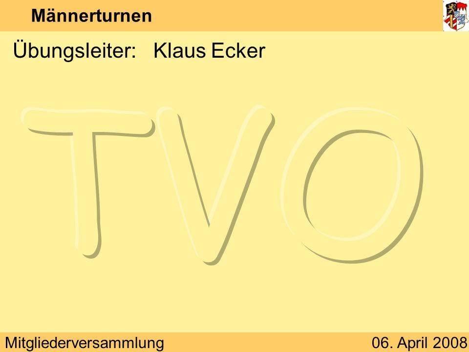 Übungsleiter: Klaus Ecker