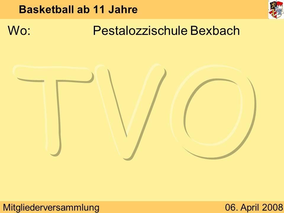 Wo: Pestalozzischule Bexbach