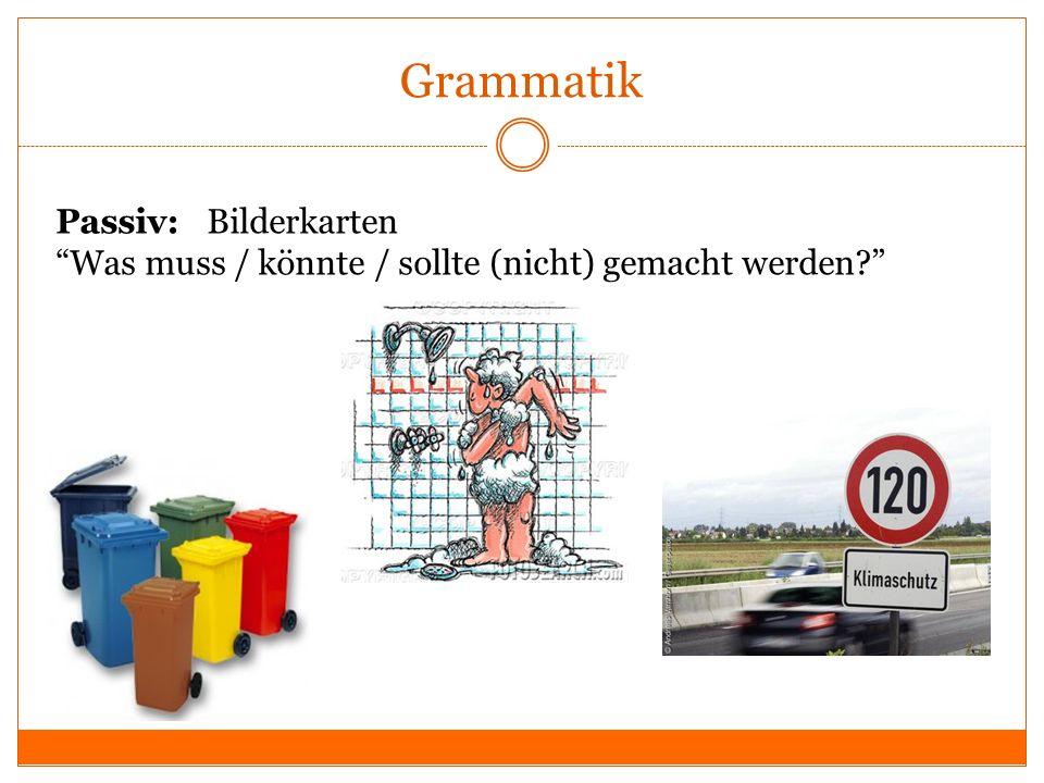 Grammatik Passiv: Bilderkarten