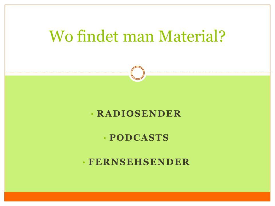 Radiosender Podcasts Fernsehsender
