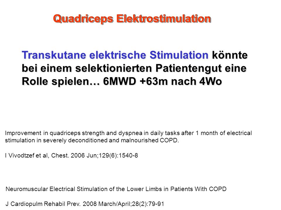 Quadriceps Elektrostimulation