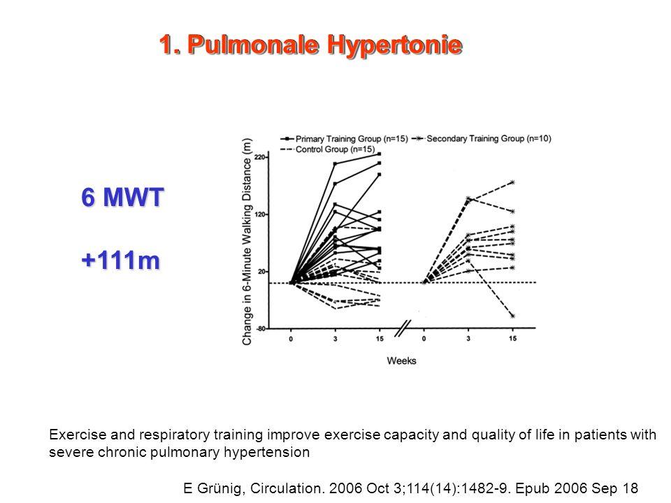1. Pulmonale Hypertonie 6 MWT +111m