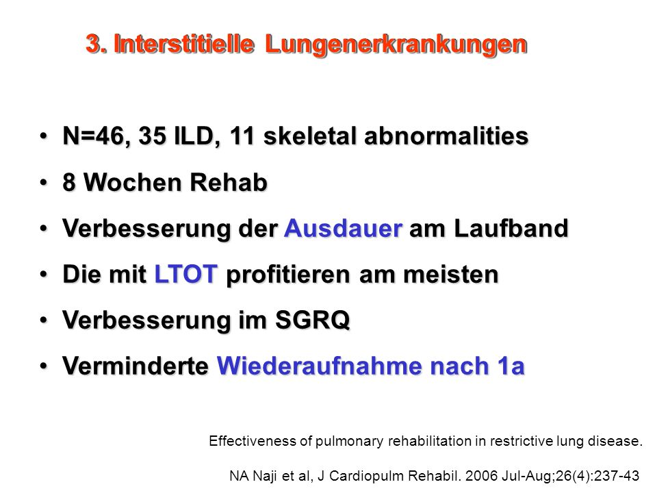 3. Interstitielle Lungenerkrankungen