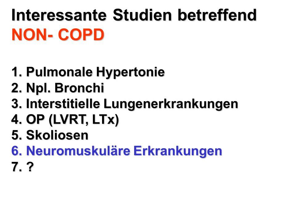 Interessante Studien betreffend NON- COPD