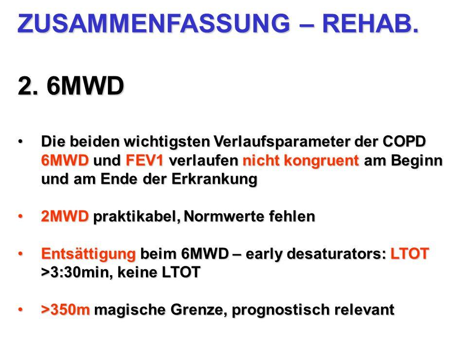 ZUSAMMENFASSUNG – REHAB. 2. 6MWD