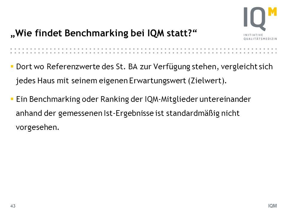 """""""Wie findet Benchmarking bei IQM statt"""