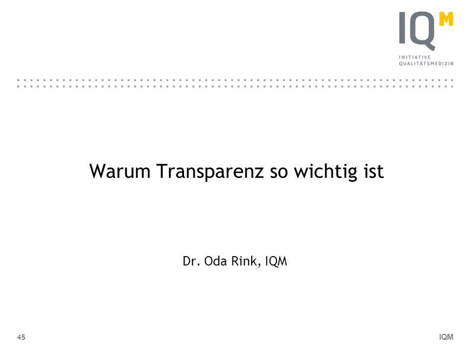 Warum Transparenz so wichtig ist