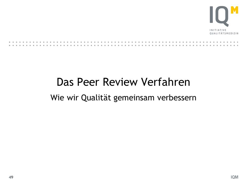 Das Peer Review Verfahren