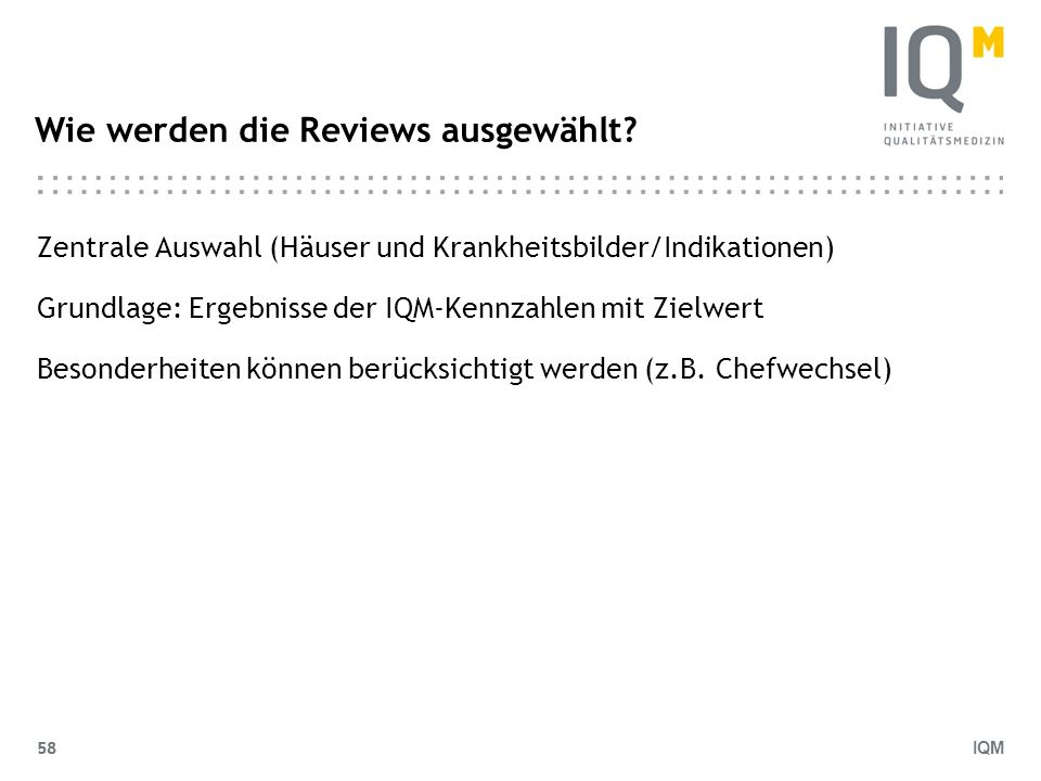 Wie werden die Reviews ausgewählt