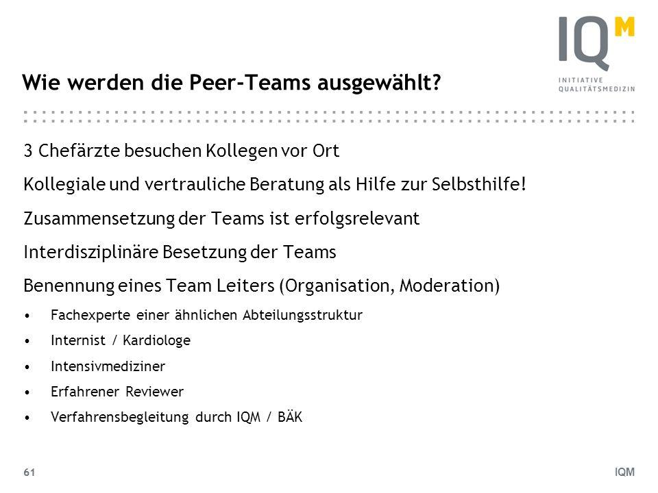 Wie werden die Peer-Teams ausgewählt