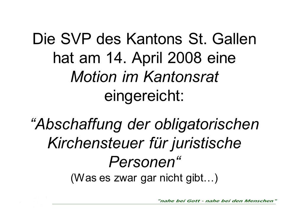 Die SVP des Kantons St. Gallen hat am 14