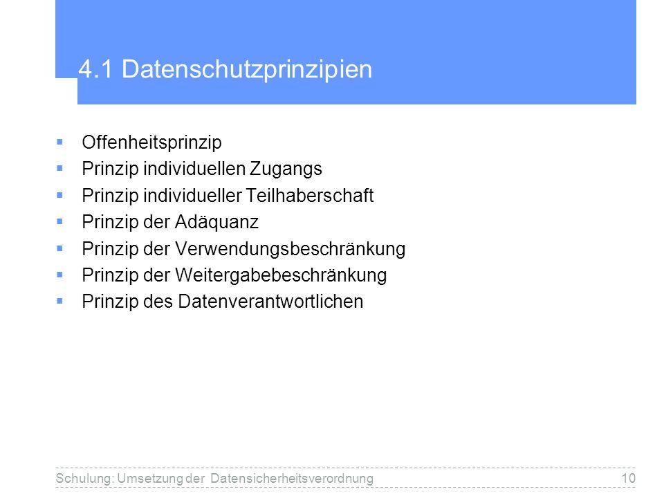 4.1 Datenschutzprinzipien