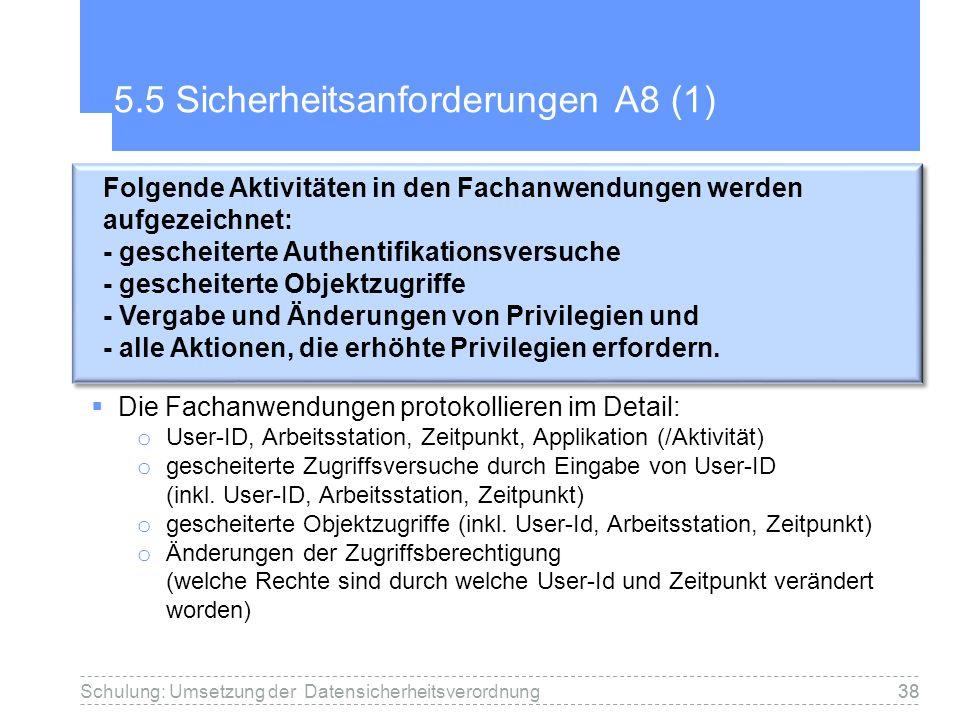 5.5 Sicherheitsanforderungen A8 (1)