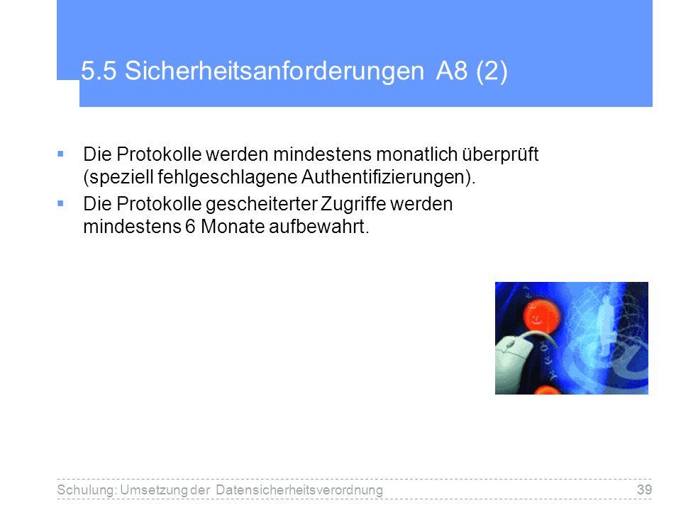 5.5 Sicherheitsanforderungen A8 (2)