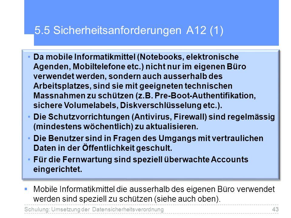 5.5 Sicherheitsanforderungen A12 (1)