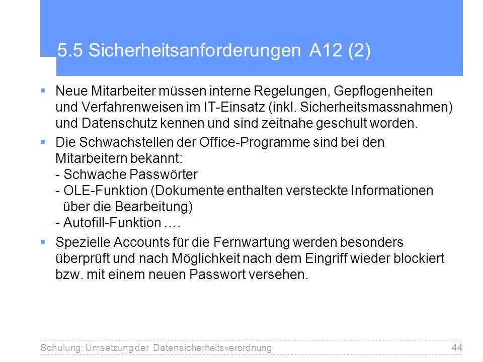 5.5 Sicherheitsanforderungen A12 (2)