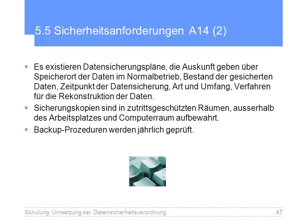 5.5 Sicherheitsanforderungen A14 (2)