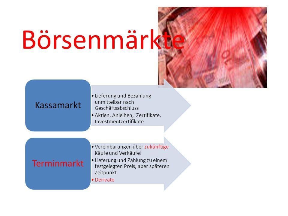 Börsenmärkte Kassamarkt