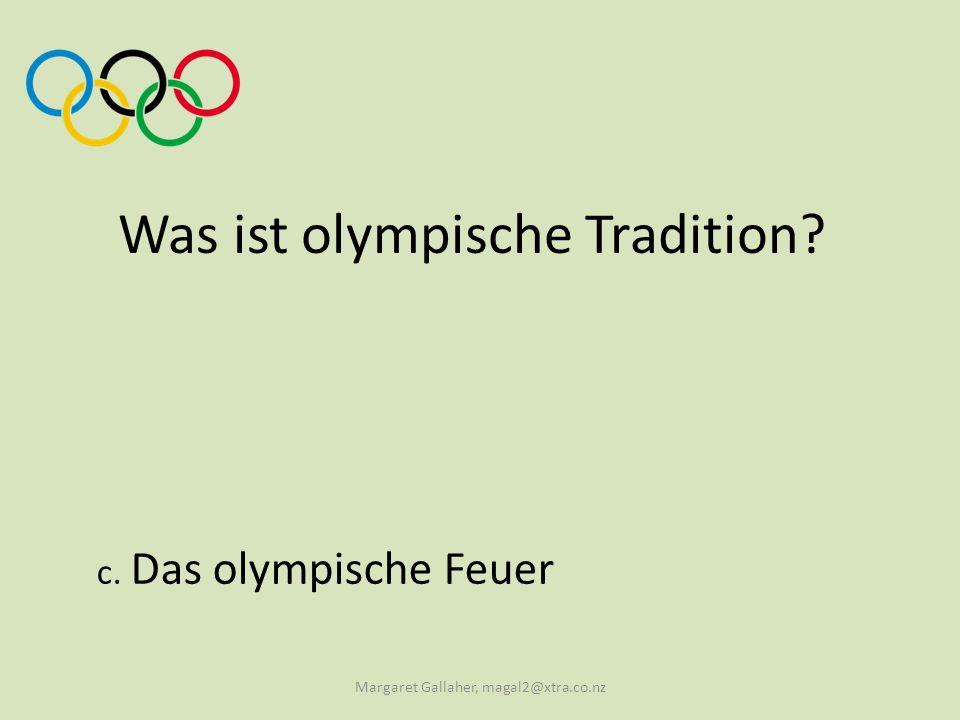 Was ist olympische Tradition