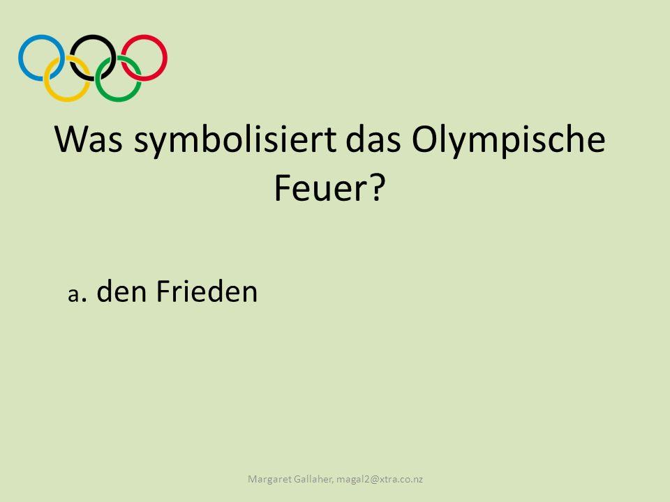 Was symbolisiert das Olympische Feuer