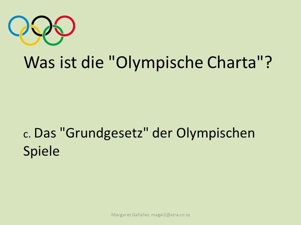 Was ist die Olympische Charta