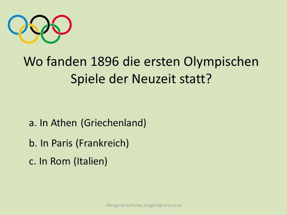 Wo fanden 1896 die ersten Olympischen Spiele der Neuzeit statt