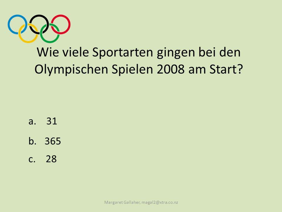Wie viele Sportarten gingen bei den Olympischen Spielen 2008 am Start