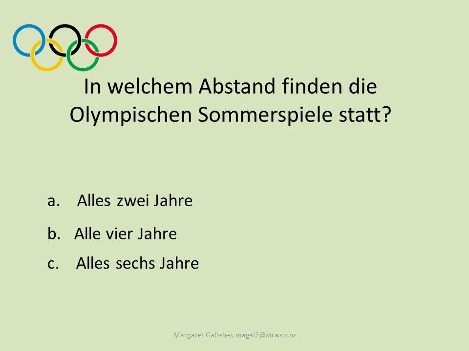 In welchem Abstand finden die Olympischen Sommerspiele statt