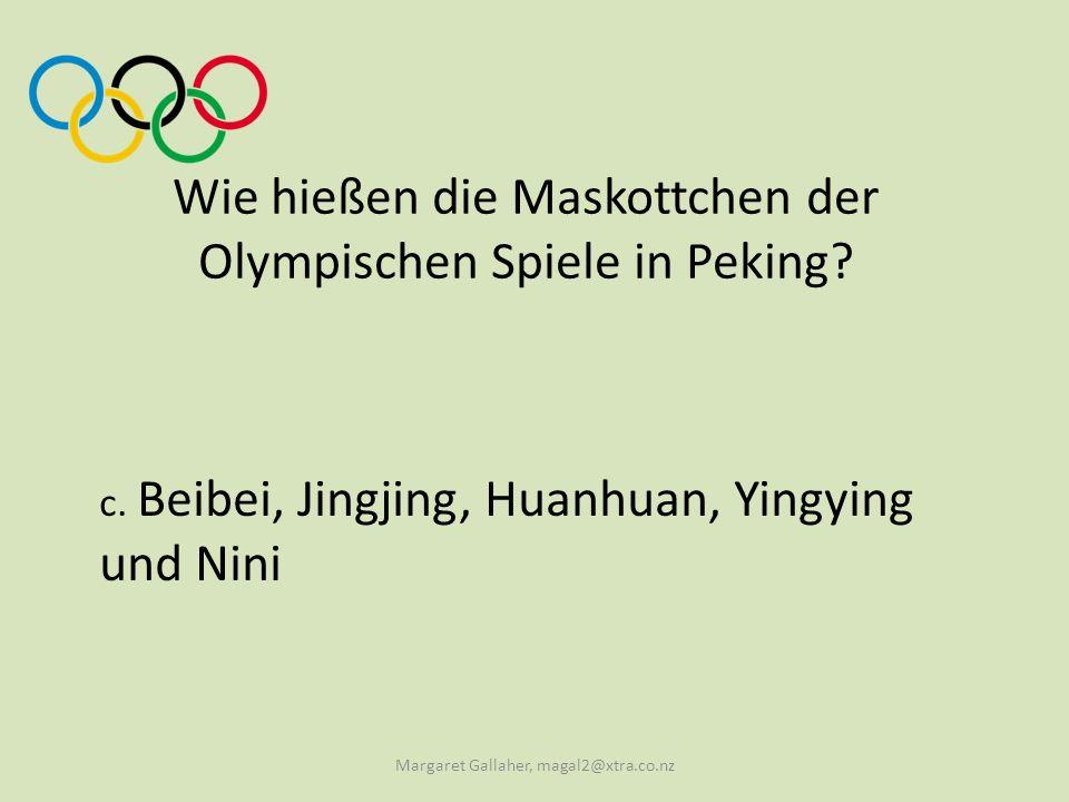 Wie hießen die Maskottchen der Olympischen Spiele in Peking