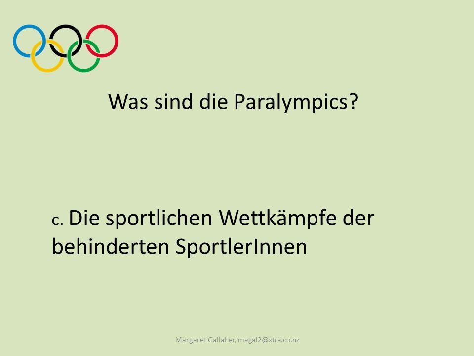 Was sind die Paralympics