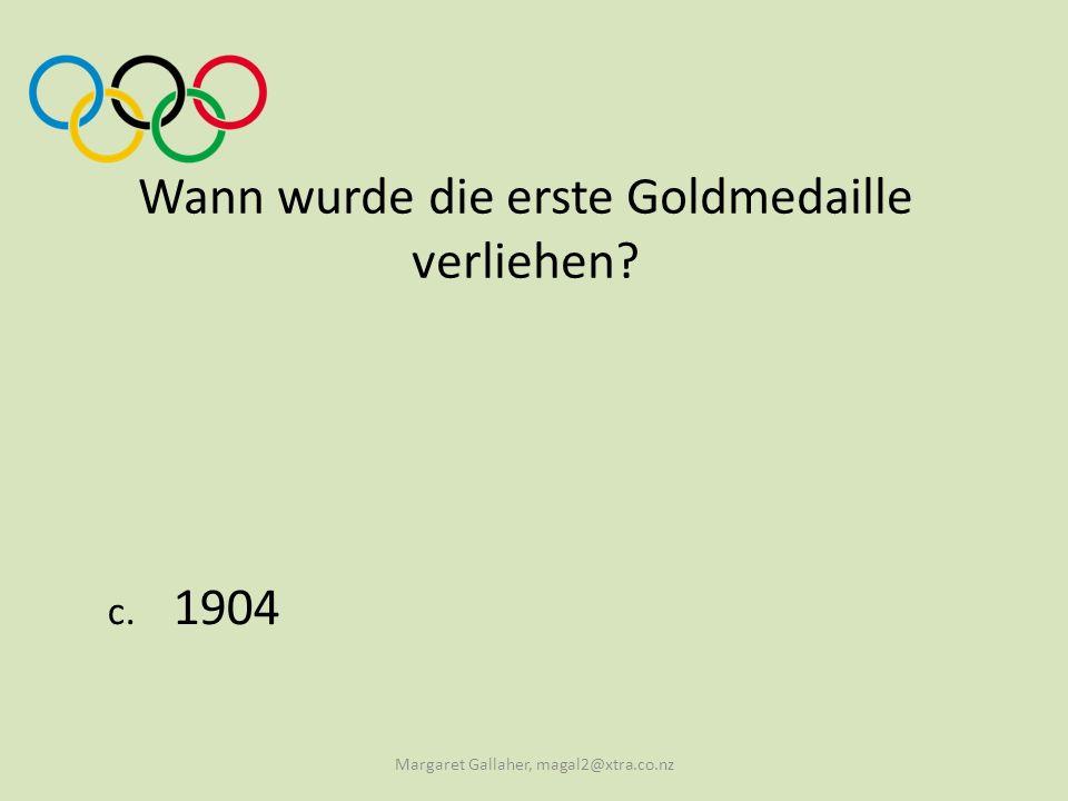 Wann wurde die erste Goldmedaille verliehen