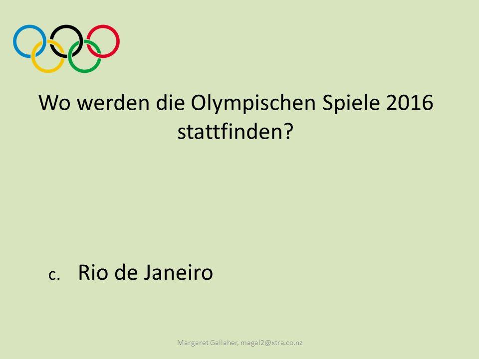 Wo werden die Olympischen Spiele 2016 stattfinden