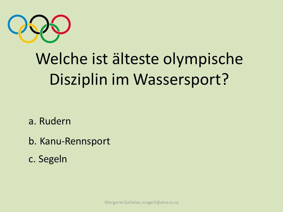 Welche ist älteste olympische Disziplin im Wassersport