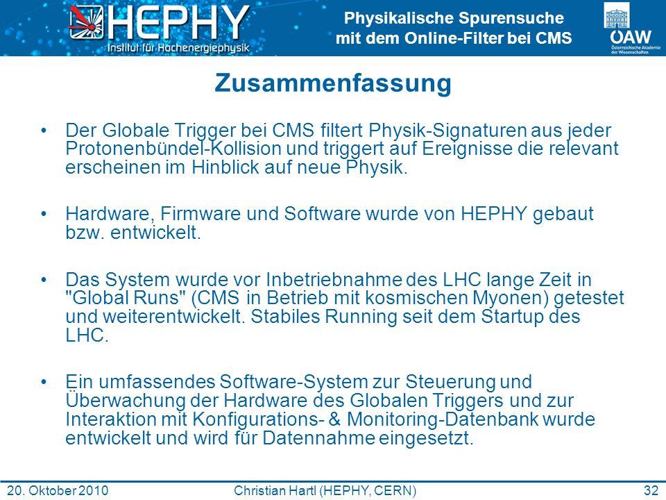 Christian Hartl (HEPHY, CERN)