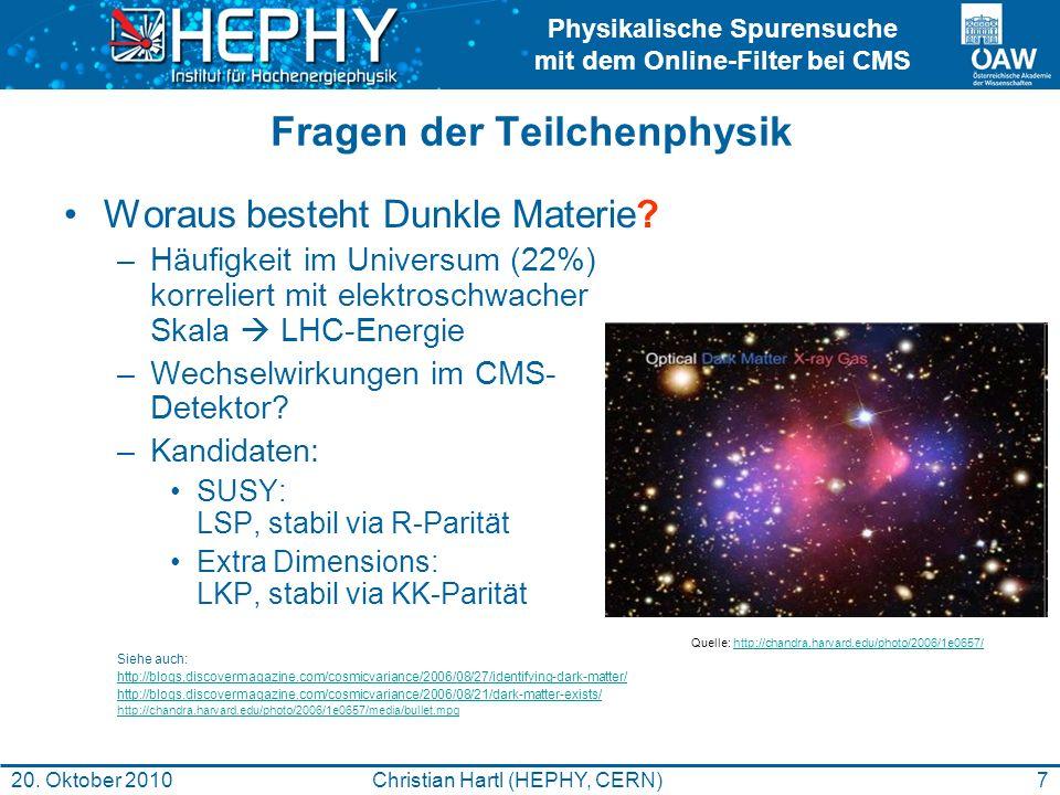 Fragen der Teilchenphysik