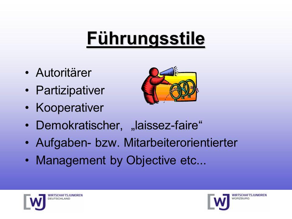 Führungsstile Autoritärer Partizipativer Kooperativer