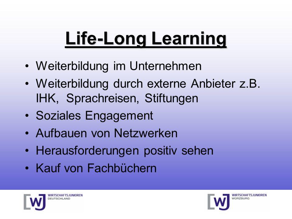 Life-Long Learning Weiterbildung im Unternehmen