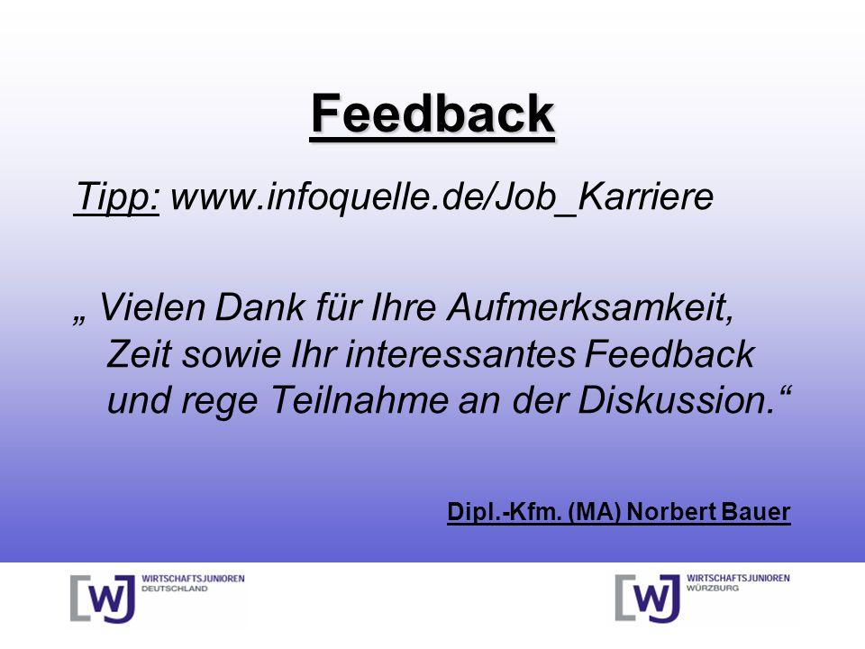 Feedback Tipp: www.infoquelle.de/Job_Karriere