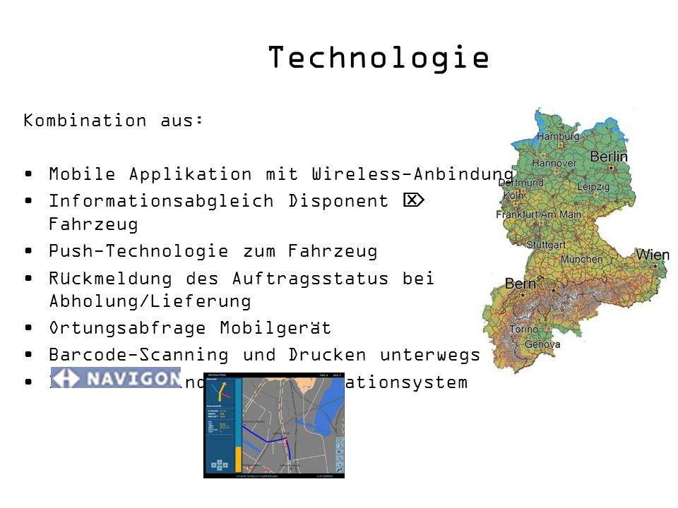 Technologie Kombination aus: Mobile Applikation mit Wireless-Anbindung